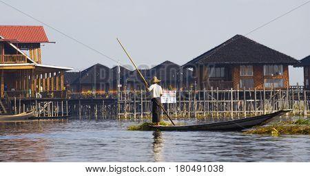 Inle Lake Bago , famous landmark in Myanmar (Burma)