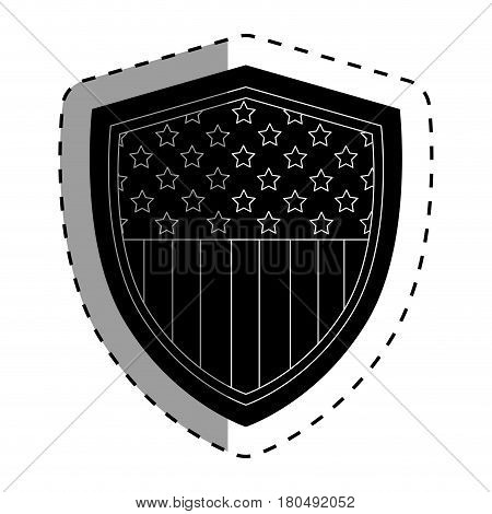 united states of america shield vector illustration design