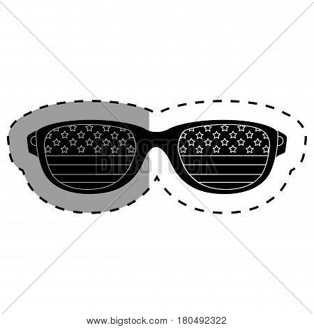 united states of america glasses vector illustration design
