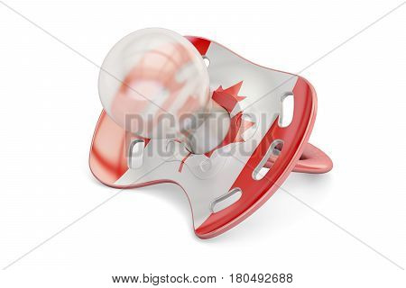 Canadian Maternity and birthrate in Canada concept 3D rendering isolated on white background