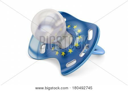 EU Maternity and birthrate concept 3D rendering isolated on white background