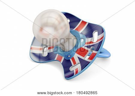 UK Maternity and birthrate in Great Britain concept 3D rendering isolated on white background