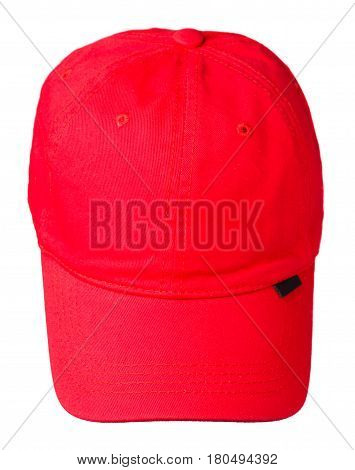 Cap Isolated On White Background. Cap With A Visor.red Cap