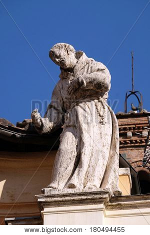 ROME, ITALY - SEPTEMBER 03: Saint Francis, Basilica of Saint Sylvester the First (San Silvestro in Capite) in Rome, Italy on September 03, 2016.