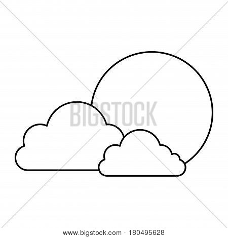 clouds and sun japanese vector illustration design
