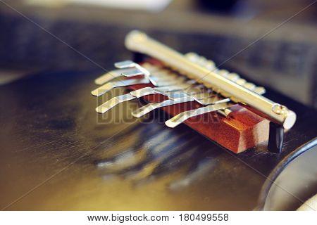Musical instrument Kalimba african thumb piano mbira white