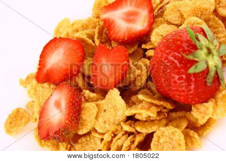 A Start To Any Day. Fresh Strawberry And Cereal