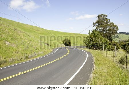 Hills and country road