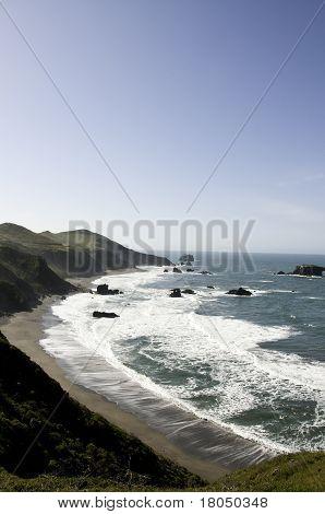 Vertical Shoot of Beach