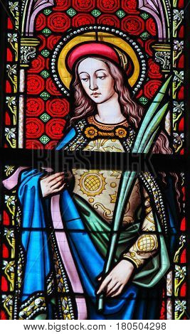 Stained Glass - Saint Agnes Of Rome