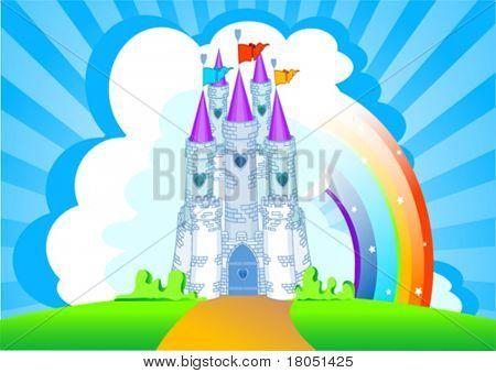 Приглашение с Волшебная сказка принцесса замок