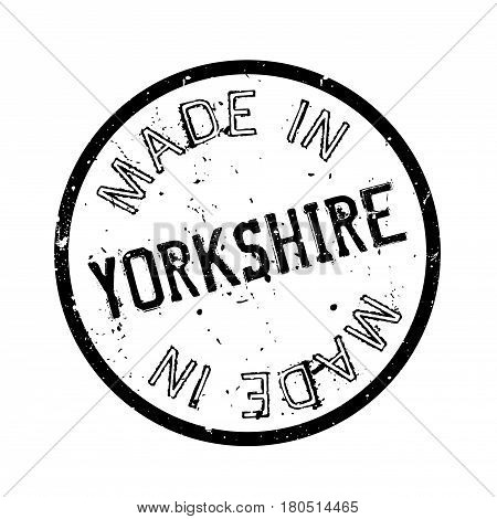 Made In Yorkshire rubber stamp. Grunge design with dust scratches. Effects can be easily removed for a clean, crisp look. Color is easily changed.