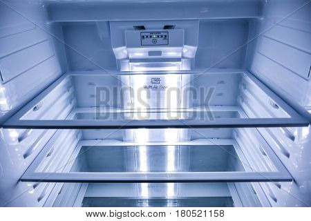 Food inside the refrigerator compartment with fresh.