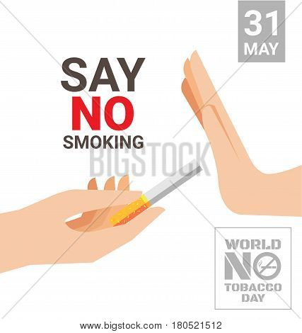 World No Tobacco Day poster for say no smoking concept