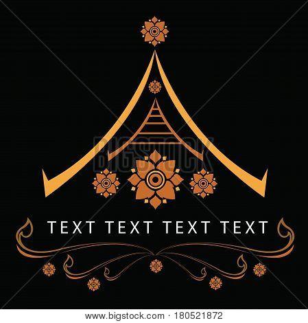 Thai motifs, illustrations Symbol of Thai, Artwork Thailand