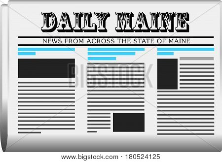 Fictional newspaper for Maine in the USA Daily Maine