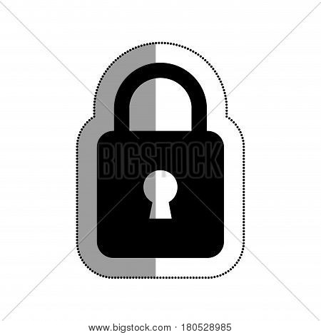 safe padlock isolated icon vector illustration design