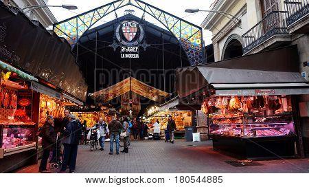 Entrance Of La Boqueria Market