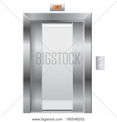 Elevator with open doors. Vector illustration isolated on white background