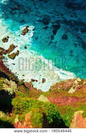 africa, atlantic, blue, calm, cape of good hope, Cape Town, clean, clear, cliff, deep, foam, ocean, rocks, sea, see through, shore, south, steep, transparent, turquoise, view, water