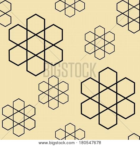 Vector background images made of geometric shapes using a beige background color scheme. By seamless images