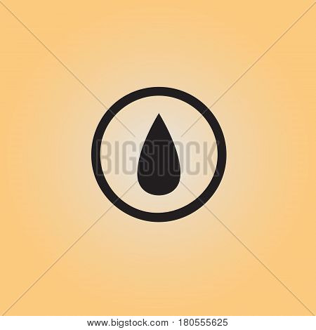 Water drop isolated vector sign. Oil drop flat vector icon. Liquid substance vector illustration.
