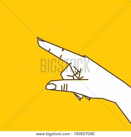 forefinger pointing anything or gesture design vector