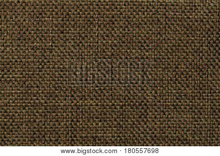 Dark green background with checkered pattern closeup. Structure of the green fabric macro.