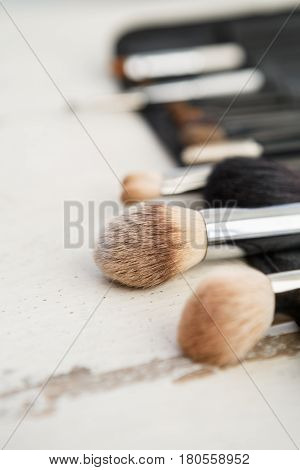 Collection Of Visagiste Brushes For Make Up