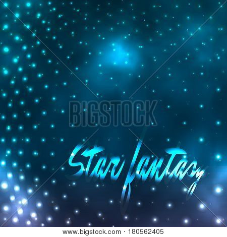 star fantasy, foggy dotted vector background design eps10