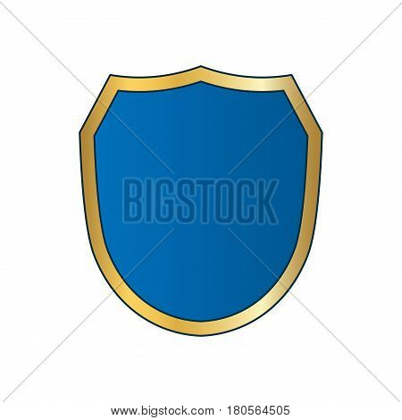 Shield Gold Blue Icon Shape Emblem