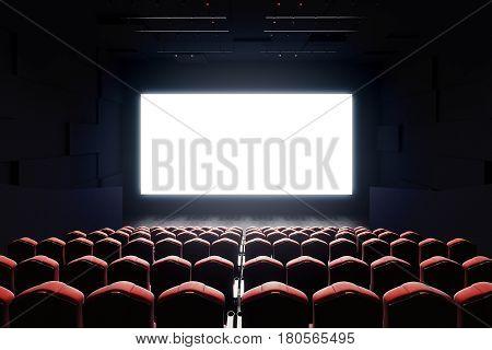 Blank Cinema Screen Front