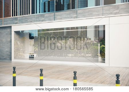 Empty Glass Shopfront Side