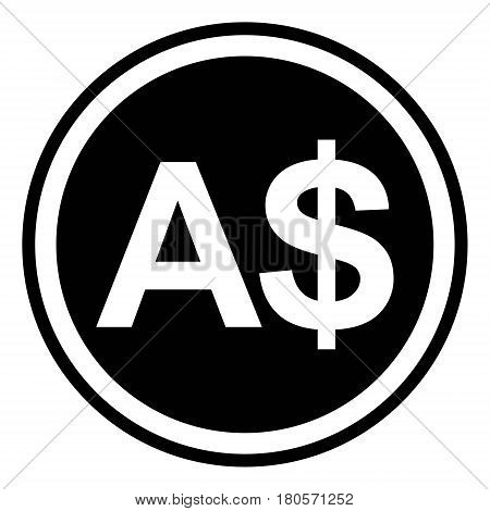 Sign currency Australia Australian dollar vector dollar sign