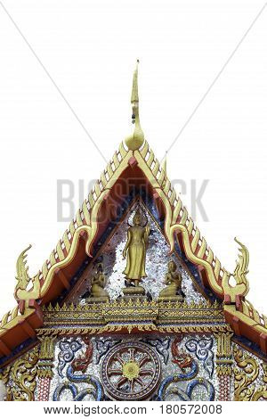 Chofa is a Thai architectural decorative ornament that adorns the top at the end of wat and palace roofs in most Southeast Asian countries such as Thailand Cambodia Laos and Myanmar. It resembles a tall thin bird and looks hornlike. The chofa is generally