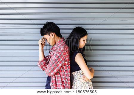 Relationship difficulties or couple problem concept and ideas