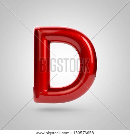 Metallic Paint Red Letter D Uppercase