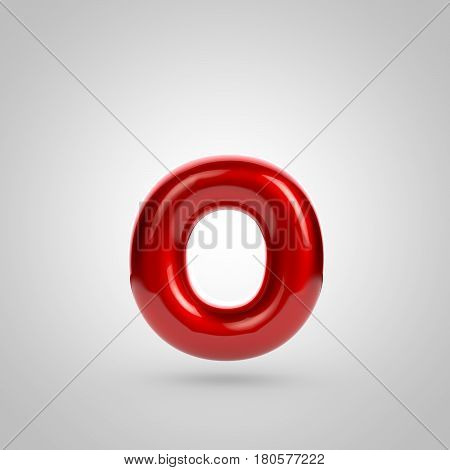Metallic Paint Red Letter O Lowercase