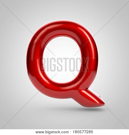 Metallic Paint Red Letter Q Uppercase