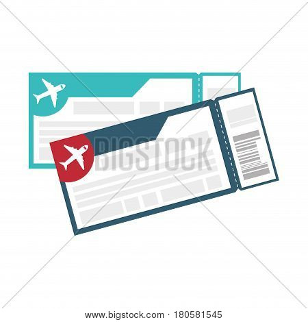 flight tickets isolated icon vector illustration design