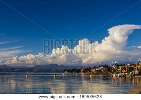 View of Lago di Garda Bardolino Italy
