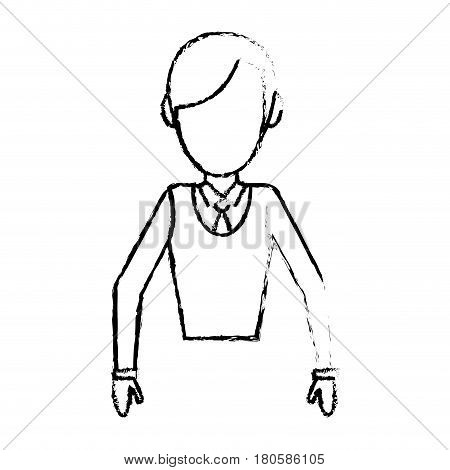 sketchy man male faceless design vector illustration eps 10