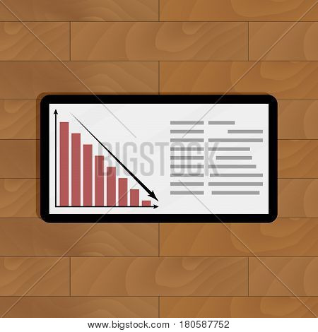 Crisis financial decline. Information and infochart annual decline infographic vector illustration