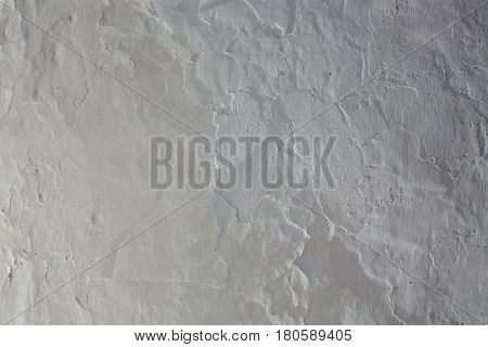 Whitewashed white Mediterranean wall texture in spain