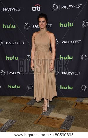 LOS ANGELES - MAR 26:  Bellamy Young arrives for the PaleyFest LA 2017-Scandal on March 26, 2017 in Hollywood, CA