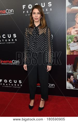 LOS ANGELES - MAR 29:  Sofia Coppola arrives for the CinemaCon 2017-Focus Features Luncheon Celebrating 15 Years and A Bright Future on March 29, 2017 in Las Vegas, NV