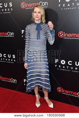 LOS ANGELES - MAR 29:  Naomi Watts arrives for the CinemaCon 2017-Focus Features Luncheon Celebrating 15 Years and A Bright Future on March 29, 2017 in Las Vegas, NV