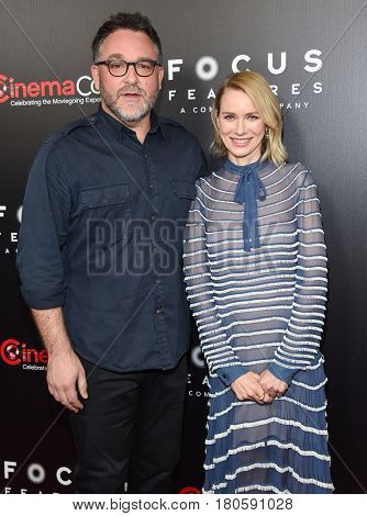 LOS ANGELES - MAR 29:  Colin Trevorrow and Naomi Watts arrives for the CinemaCon 2017-Focus Features Luncheon Celebrating 15 Yrs and A Bright Future on March 29, 2017 in Las Vegas, NV