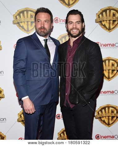LOS ANGELES - MAR 29:  Ben Affleck and Henry Cavill arrives for the CinemaCon 2017-Warner Brothers on March 29, 2017 in Las Vegas, NV
