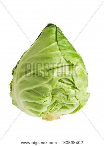 Ripe fresh cabbage isolated on white background